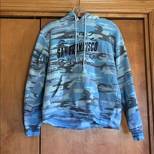 MV Sport Blue Camo San Francisco CA Hoodie Small